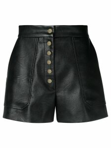 Stella McCartney high-rise buttoned shorts - Black