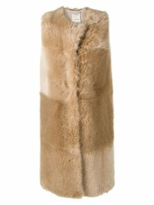 Stella McCartney long-line gilet - NEUTRALS