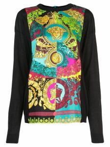 Versace Technicolor Baroque print top - Multicolour