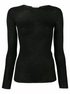 Stella McCartney sheer slim fit top - Black