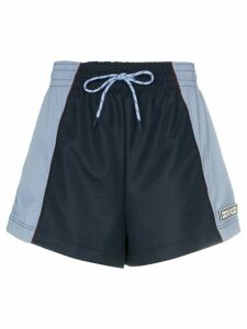 GANNI colour block shorts - Blue