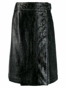 Marni patent wrap style skirt - Black