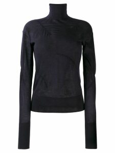 Helmut Lang ruched detail sweater - Blue