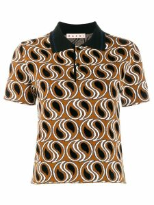 Marni paisley print polo top - Brown
