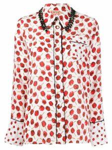 Nº21 cherry print shirt - Red