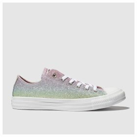 Converse Multi All Star Rainbow Glitter Ox Trainers