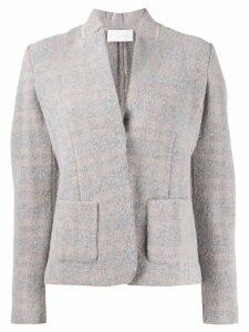 Fabiana Filippi cropped fitted jacket - Grey