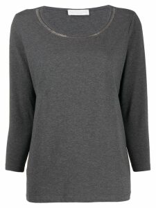 Fabiana Filippi ball-chain neck jumper - Grey