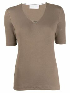 Fabiana Filippi rhinestone-embellished T-shirt - Brown