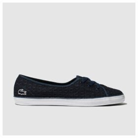 Lacoste Navy & White Ziane Chunky Trainers