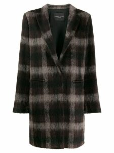 Fabiana Filippi plaid coat - Brown