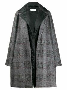 Fabiana Filippi oversized checked coat - Grey