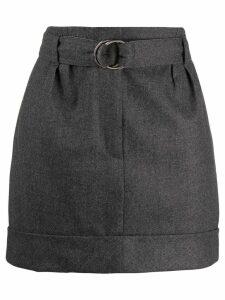 Brunello Cucinelli belted mini skirt - Grey