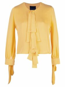 Cynthia Rowley Tennessee Tie Front Top - Yellow