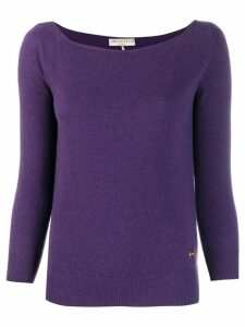 Emilio Pucci boat neck sweater - Purple