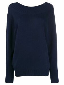 Chloé cutout back sweater - Blue