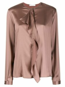 Fabiana Filippi draped detail blouse - PINK
