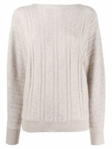 Fabiana Filippi loose-fit cashmere jumper - Neutrals
