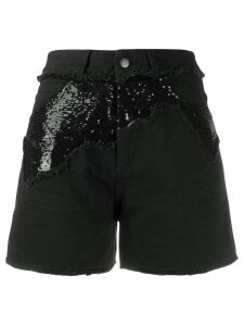 Philosophy Di Lorenzo Serafini sequin embellished denim shorts - Black