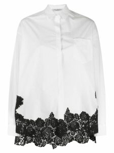 Philosophy Di Lorenzo Serafini contrast lace trim shirt - White