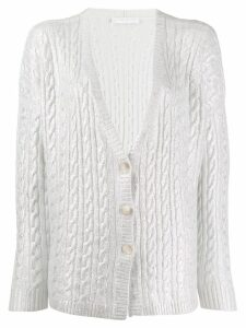 Fabiana Filippi metallized cashmere cardigan - Grey