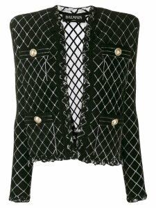 Balmain tweed knitted blazer - Black