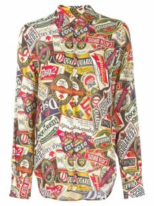 Dsquared2 all-over print shirt - NEUTRALS