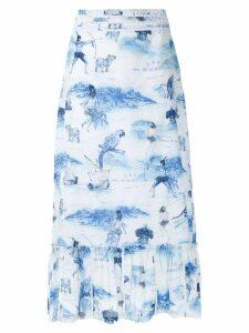 Isolda Morere midi skirt - Blue