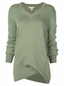 Michael Kors Collection asymmetric sweater - Green