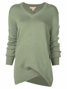 Michael Kors Collection asymmetric sweater - Green