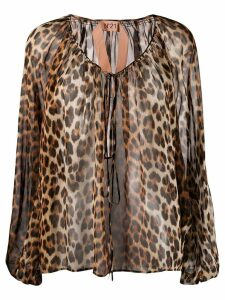 Nº21 leopard print blouse - Brown