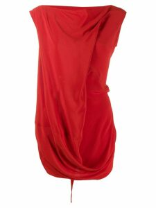 Rick Owens draped blouse - Red