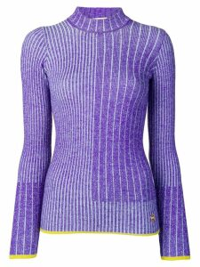 Emilio Pucci Violet Ribbed Wool Jumper - Purple