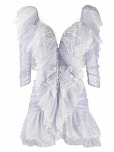 Raisavanessa Butterfly embellished mini dress - Purple