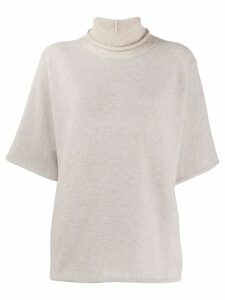 Fabiana Filippi short-sleeved jumper - NEUTRALS