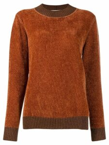 Fabiana Filippi long-sleeve fitted sweater - ORANGE