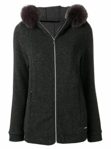 Woolrich hooded zipped cardigan - Grey