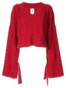 Maison Mihara Yasuhiro oversized cropped sweater - Red