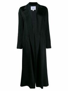 Galvan Sun wrap style coat - Black