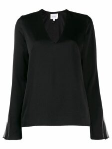 Galvan Ray V-neck blouse - Black