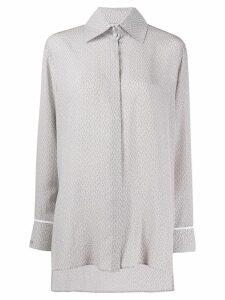 Fendi chevron pattern shirt - Grey