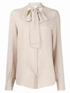 Fabiana Filippi tie neck top - NEUTRALS