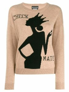 Boutique Moschino intarsia pullover - Brown