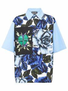 Prada printed poplin blouse - Blue