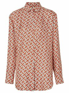 Burberry monogram print shirt - Red