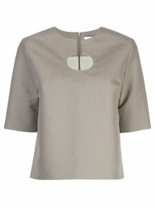 Partow cut out detail blouse - Green