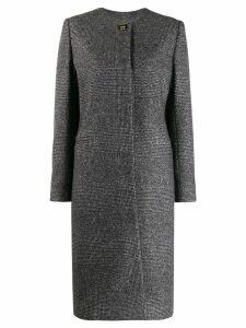 Salvatore Ferragamo houndstooth single-breasted coat - Grey