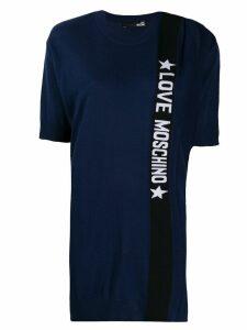 Love Moschino logo T-shirt dress - Blue