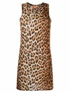 Nº21 leopard print vest - Brown