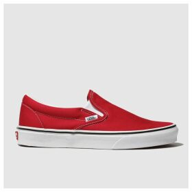 Vans Red Classic Slip-on Trainers